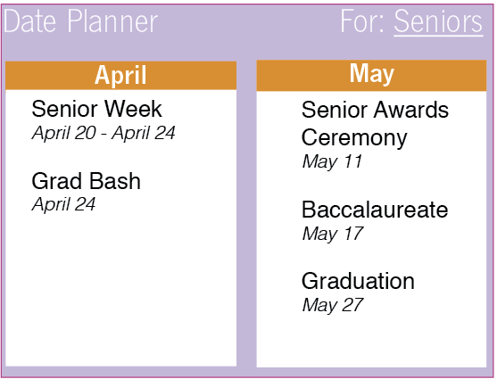 Events wrap up senior year