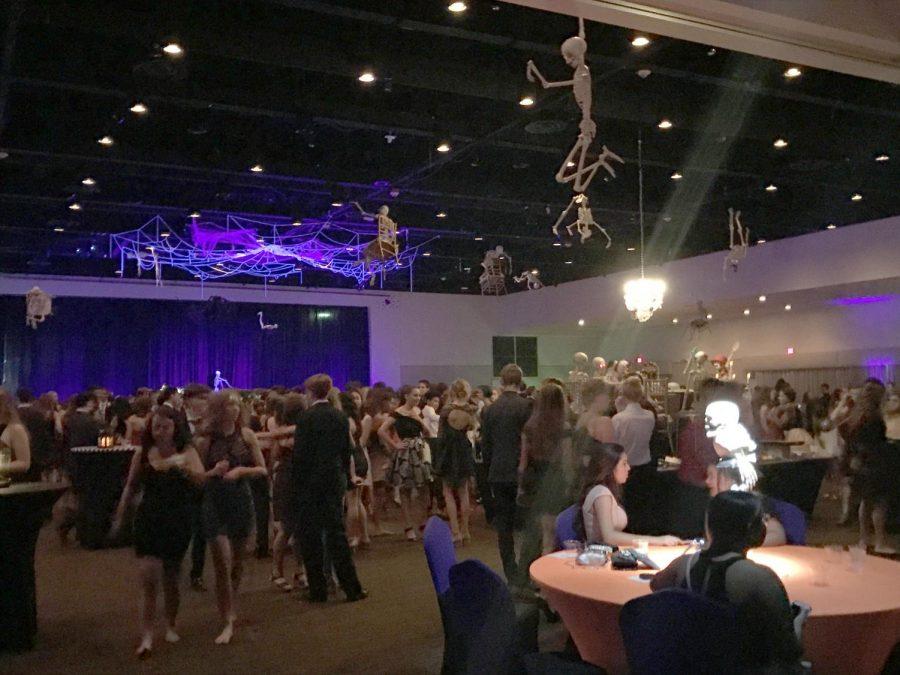Students gather on the dance floor at the Al La Carte Pavilion.