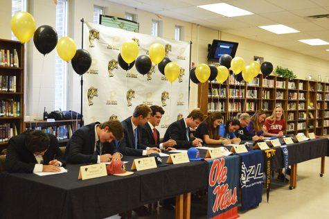 Pens down: Student athletes take next step