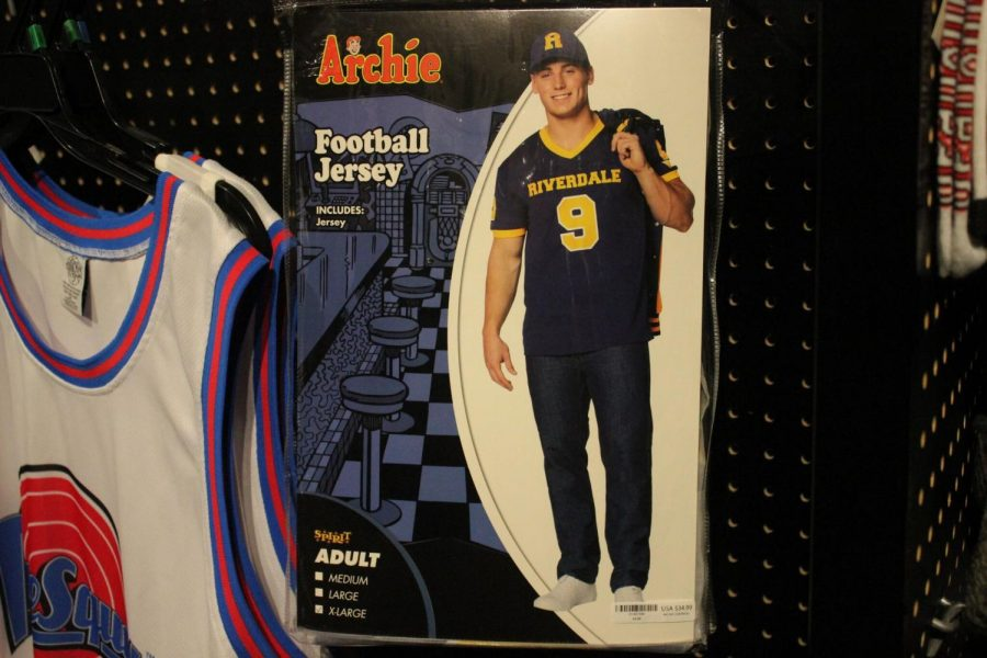 """Among many Halloween costumes this year, Archie Andrews from the TV show """"Riverdale"""" is displayed at a local store. Other Halloween costumes that were available include those of a classic genre such as a vampire and one from """"To All the Boys I've Loved Before"""" on Netflix, whose main character is Lara Jean."""