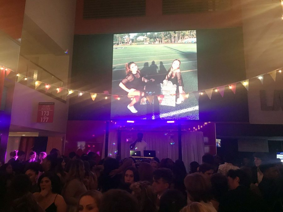 Throughout the dance, a slideshow displays pictures from Panther Prowl Oct. 27 at Raymond James Stadium. Following a circus theme, the Executive Board decorated the venue.