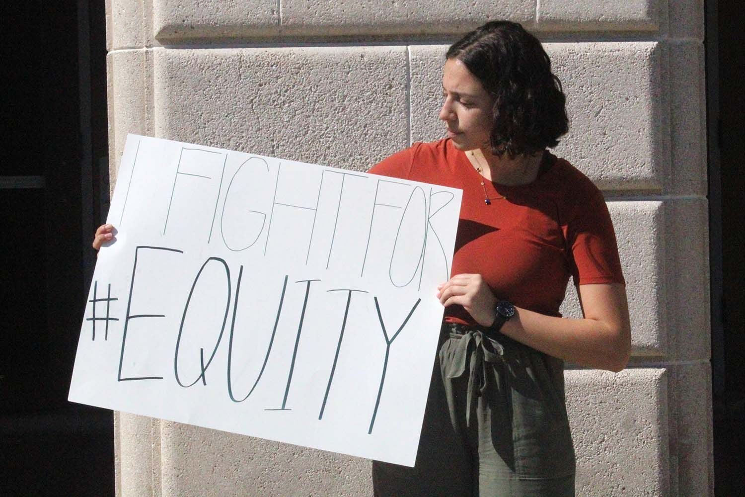 "nonprofit Community Tampa Bay, senior Lena Diasti is an advocate for ""Equity."" Diasti has been volunteering with them since her freshman year and became an intern in August 2018."