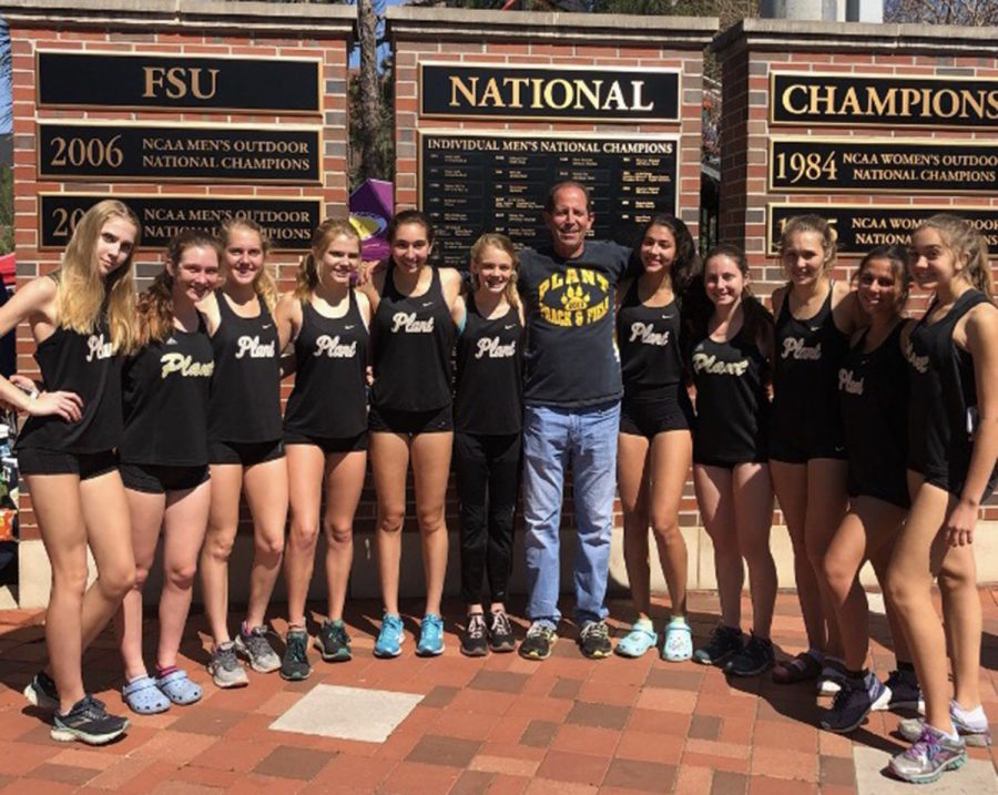 The+girls+distance+track+team+travels+to+Tallahassee+to+compete+in+relays+at+Florida+State+University+against+individuals+from+all+over+the+country+Mar.+22+and+23.+Nine+out+of+the+11+girls+ran+personal+records+at+the+relays.