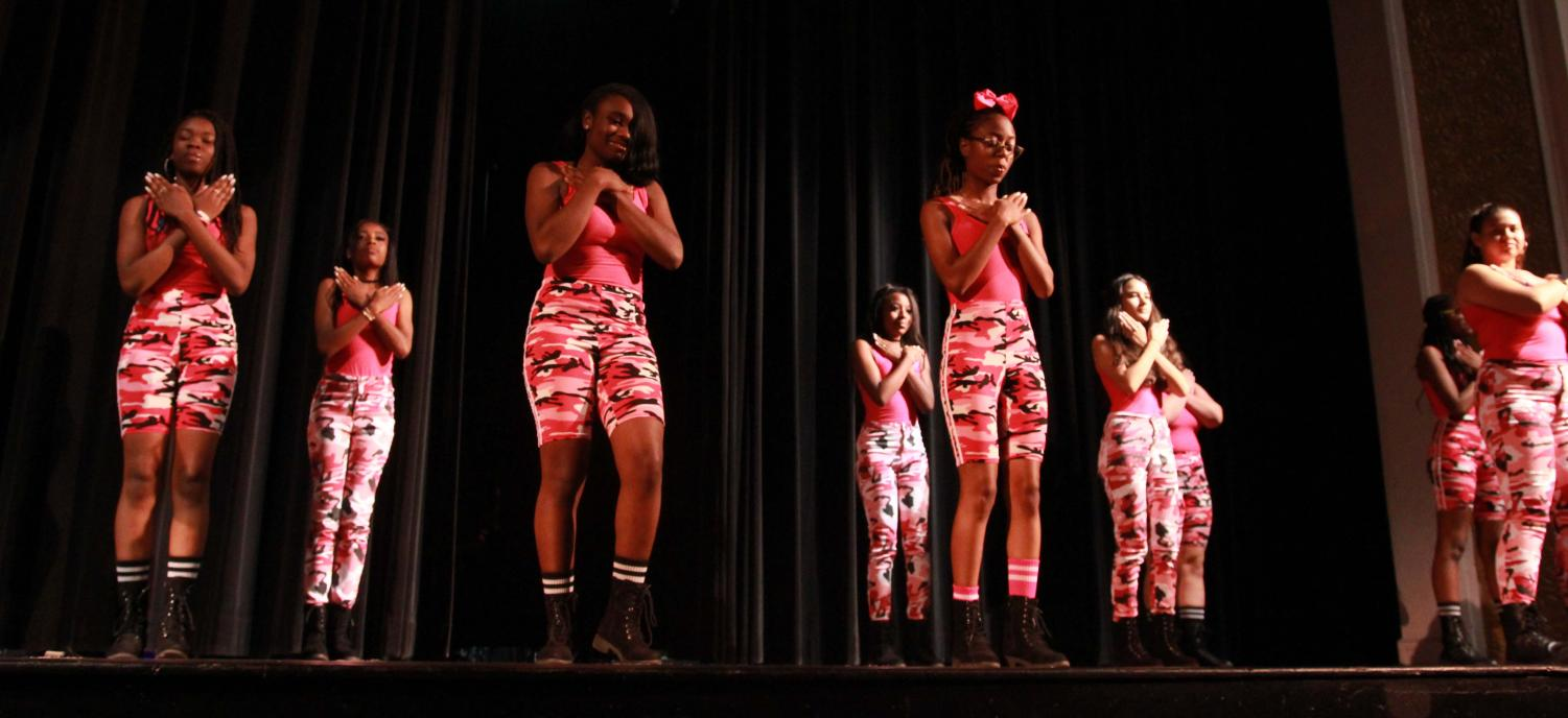 Mid+performance%2C+the+Step+Team+dances+on+stage+at+Be+the+Voice+in+the+auditorium+April+23.+Be+the+Voice+was+an+event+held+to+raise+awareness+about+suicide+prevention%2C+and+was+sponsored+by+the+Crisis+Center+of+Tampa+Bay.+