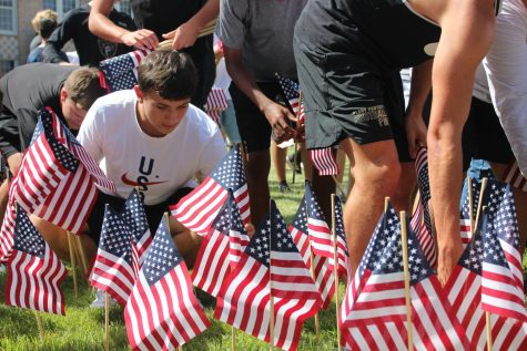 Students set up remembrance event for 9/11