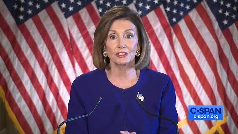 Announcing an impeachment inquiry, Speaker of the House Nancy Pelosi addresses the media on Sept. 24. The inquiry comes after allegations that President Donald Trump threatened to withhold aid from Ukraine unless they investigated former Vice President Joe Biden's son and his business activities in the country.