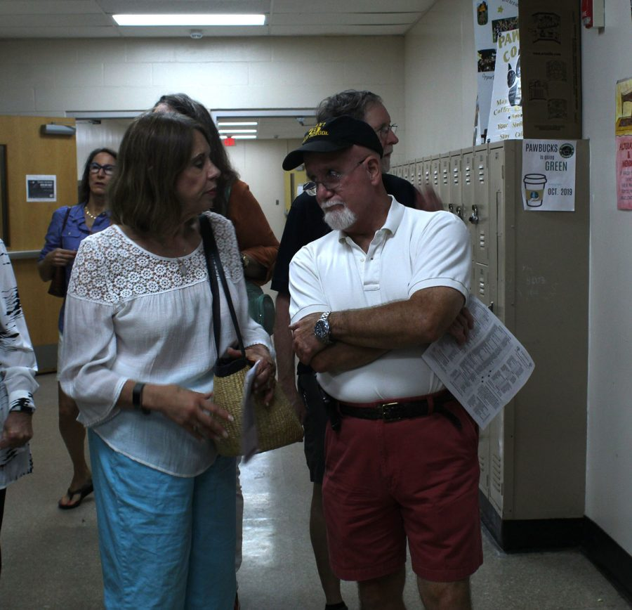 Former Plant High School student John Gulley walks around the school halls Friday, Sept 20. John joined other alumni for the fifty-year reunion of their graduating class.