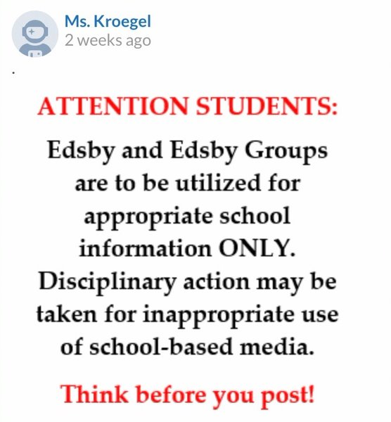 The morning after the meme outbreak, Donna Kroegel notified the senior class that disciplinary action may be taken if a similar incident were to happen again. Krogel aimed to warn the Plant student body to think before they post while using the platform.