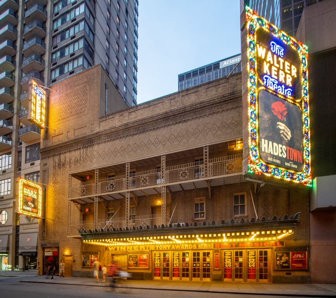 "The Walter Kerr Theatre is the current theatre where ""Hadestown"" is being shown. This past year, ""Hadestown"" won eight Tonys, including Best Musical and Best Original Score.  Photo courtesy of Wikimedia Commons."