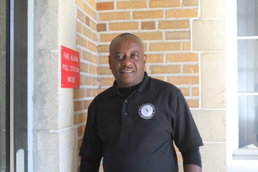 Head custodian Gerardo Amedes