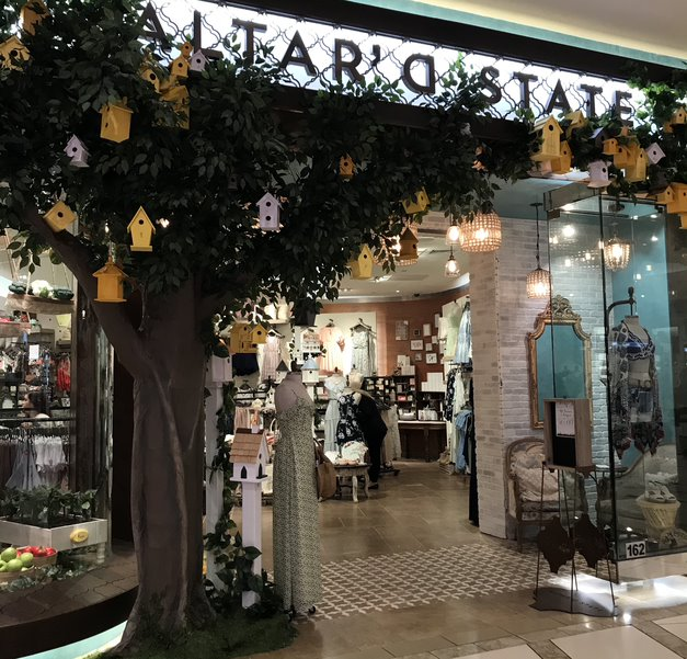 Altar'd State is a bohemian boutique that sells clothing, accessories, home décor and gifts. The boutique was founded in 2009.