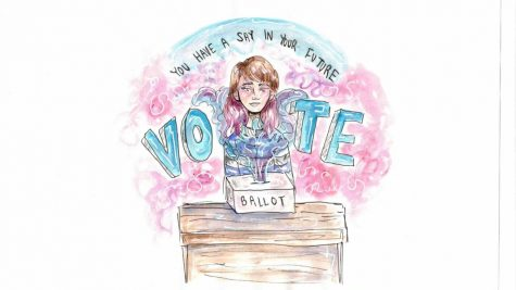 A column by a staffer on why voting is a necessary step in the United States. Artwork by Summer Purks.