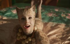 Looking up into the camera, main character Victoria (Francesca Hayward) sings in the movie adaptation of Cats. Airing in theaters in December, it was extremely unsuccessful, losing millions of dollars at the box office, as well as being pulled from its Oscar campaign with Universal Pictures. Photo courtesy of Quartz.com.