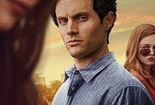 Showing Joe (Penn Badgley) admiring Love (Victoria Pedretti) a new character for the second season,