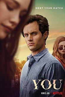Showing Joe (Penn Badgley) admiring Love (Victoria Pedretti) a new character for the second season,