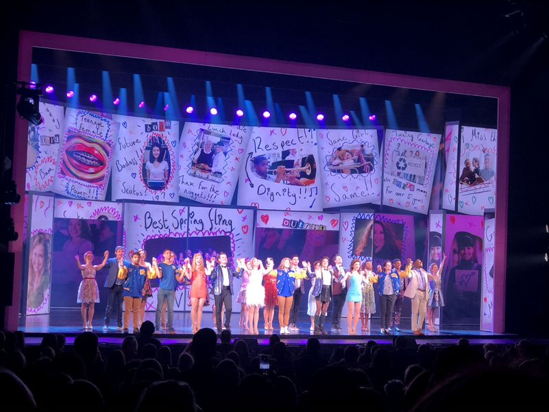 The+cast+takes+a+bow+as+the+crowd+applauds%2C+signifying+the+end+of+the+show.+The+tour+cast+added+their+own+spin+to+the+roles+originated+on+Broadway%2C+they+said+lines+differently+and+added+their+own+voice+to+the+music.+