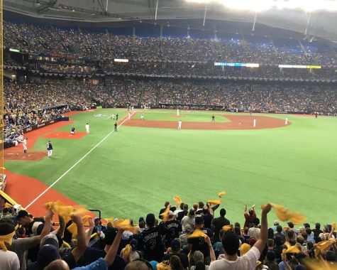 Possible 2020 World Series location Tropicana Field during game four of the ALDS, Tuesday, Oct. 8, 2019. Tropicana Field opened in 1990 and became the home stadium of the Tampa Bay Rays in 1998.