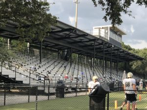 Hillsborough County Public Schools are limiting attendance to football games. The new spectator guidelines permit each participant to invite four people to attend.