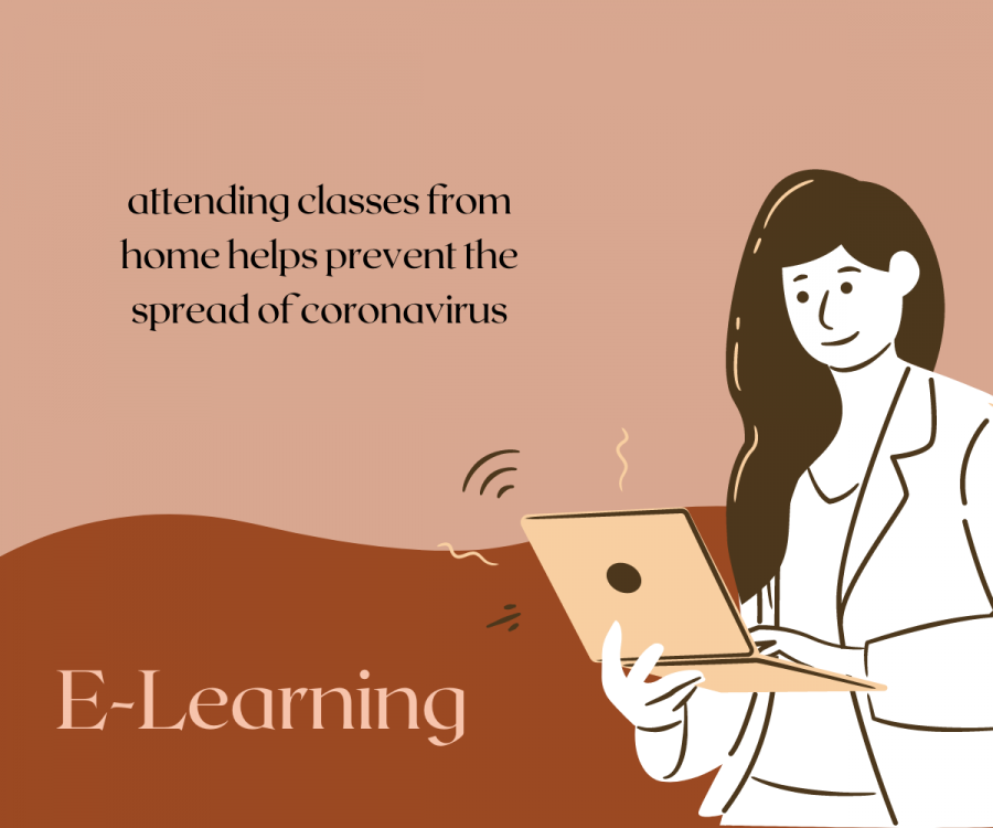 E-learning allows students to keep themselves and their families safe from the coronavirus, but it also has other benefits that make school life easier. The option to attend school online was made available during the pandemic for those who didn't feel ready to take on the risk that goes with being around thousands of people every day.