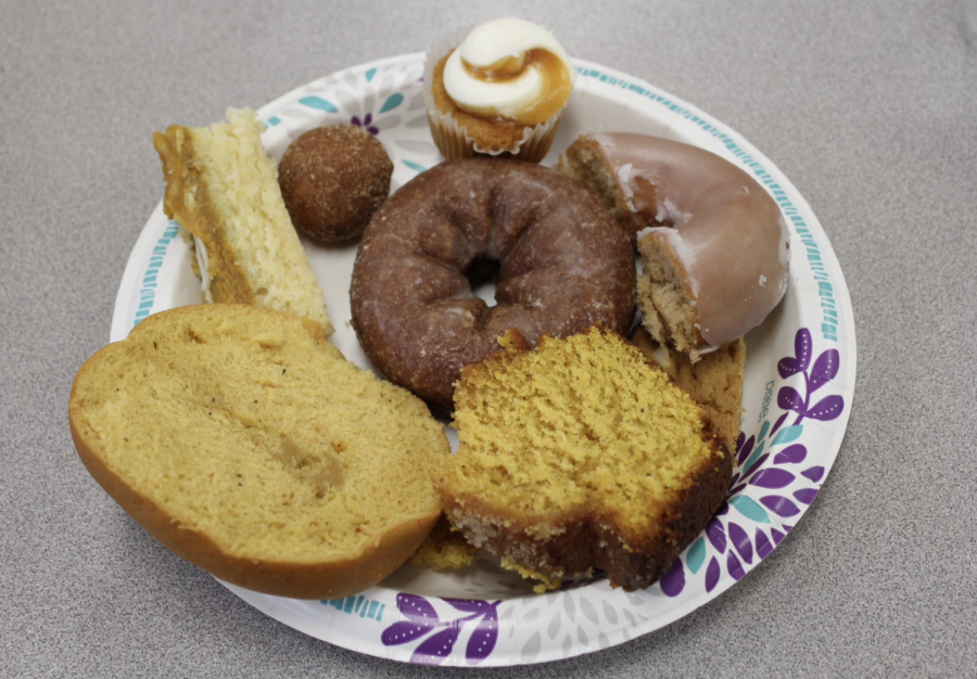 After cutting up all the pumpkin spice flavored foods, each staff member filled a plate with treats to try. Each food was ranked in order to find a winner and a loser.