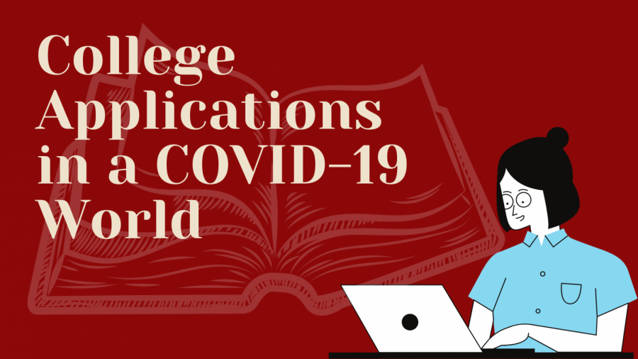 Starting+to+prepare+for+college+plans%2C+seniors+are+researching+colleges+and+finishing+up+standardized+assessments.+COVID-19+has+caused+changes+in+the+normal+application+process.+