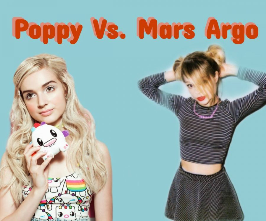 Pop singer, Poppy, and artistic partner, Titanic Sinclair, were outed by Mars Argo for copying. Mars Argo released a statement after years of silence explaining that Poppy copied her persona on YouTube.