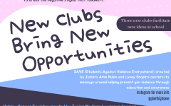 Showing a preview of the information within the article, the graphic depicts three new club names and some information concerning their message. These clubs became official clubs at Plant after going through the club-making process and now are focusing on increasing their reach and spreading their cause.