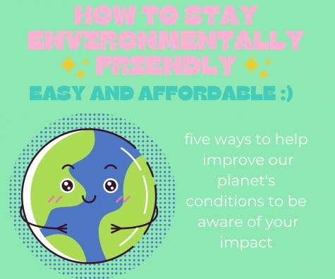 Showing a preview to the article, the graphic encourages following five tips in order to help reduce environmental impacts. In the last 100 years, the planet has suffered repercussions from rising temperatures and sea levels.