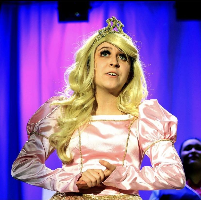 Singing to the audience, senior Gaby Garibaldi plays the princess in Sleeping Beauty.