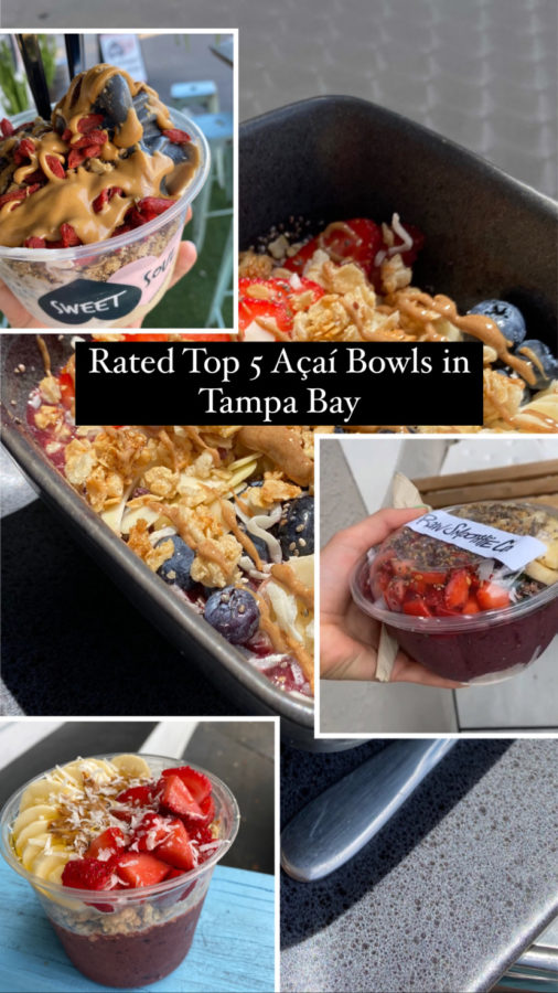 According to google, these five places, or juice bars, were the most popular and successful ones in the Tampa Bay area serving their famous acai bowls. With my curiosity intact, I gave the top five a try, and shared my thoughts.
