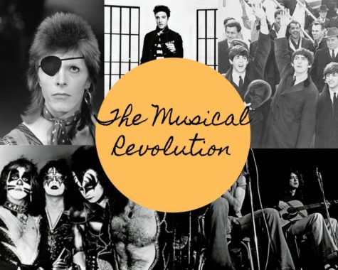 Influential artists pictured through the decades. The 50s, 60s, 70s, and 80s were some of the most musically influential periods of all time.
