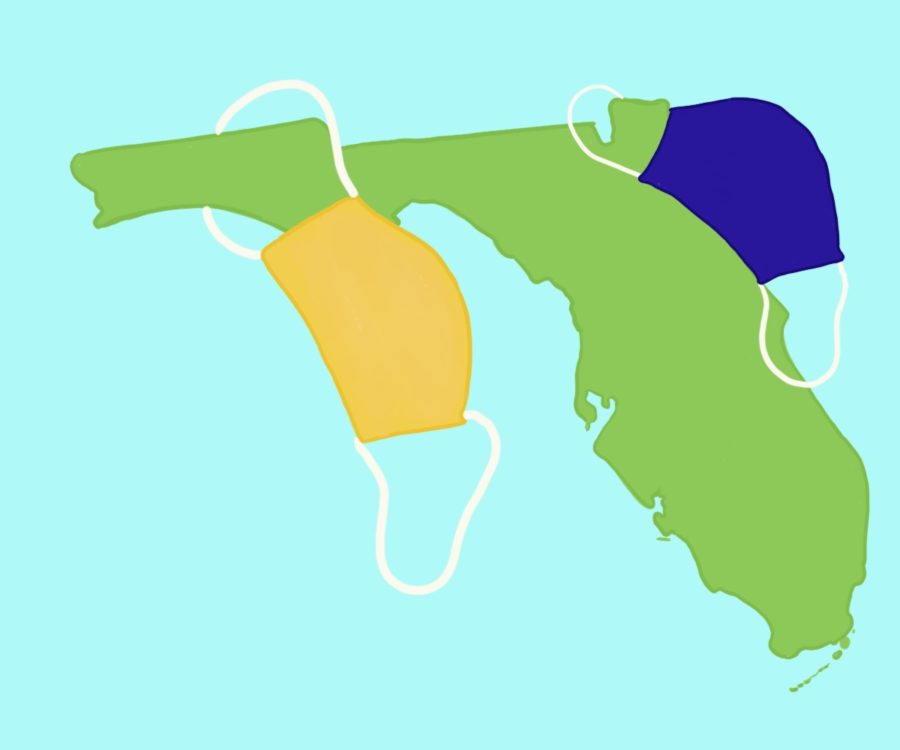As Florida's COVID cases rise, schools decide whether mask mandates should be put in place. More and more districts across the state slowly opposed their governor's decision.