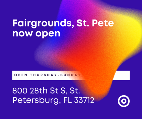 The new exhibition Fairgrounds St. Pete is now open Thursday through Sunday. Buy your tickets online now!