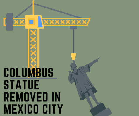 Original Columbus statue implemented in the nineteenth century taken down by orders of New Mexico's mayor Claudia Sheinbaum.