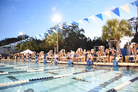 Plant competed against Academy and Jesuit for the annual Spike and Splash meet. Spike and Splash is a charity event that raises awareness and donates to breast cancer.