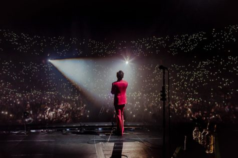 """Harry Styles performs at his """"Live on Tour"""". (Twitter/Harry_Styles)"""